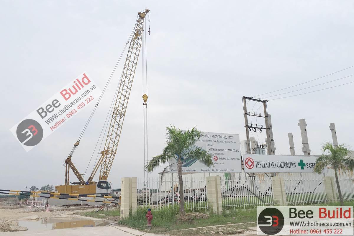 Cho thuê cẩu xích 100 tấn Kobelco CK1000 tại KCN Quễ Võ, Bắc Ninh