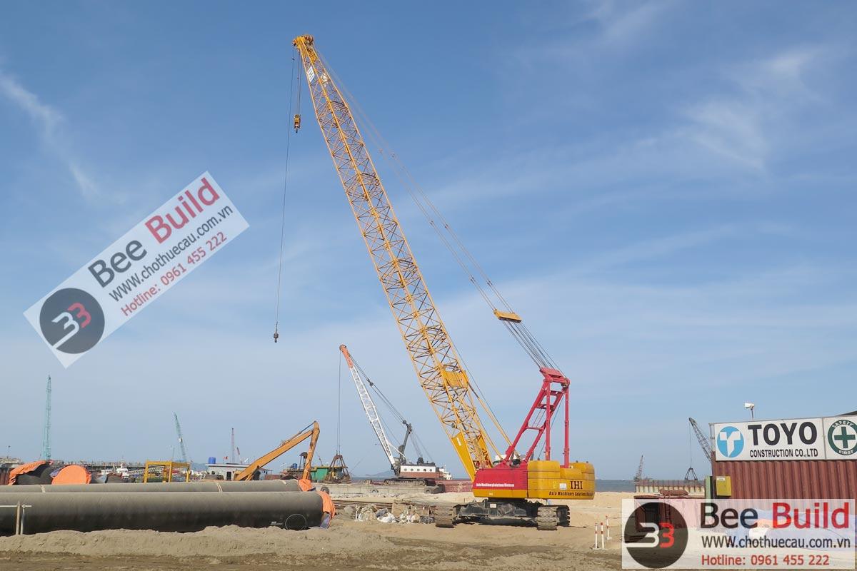 Cho thuê cẩu xích 100 tấn - 120 tấn IHI CCH1200 tại Nhà máy lọc dầu Nghi Sơn