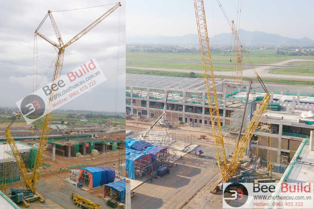 Cho thuê cẩu xích 400 tấn tại Nhà ga T2 sân bay Nội Bài