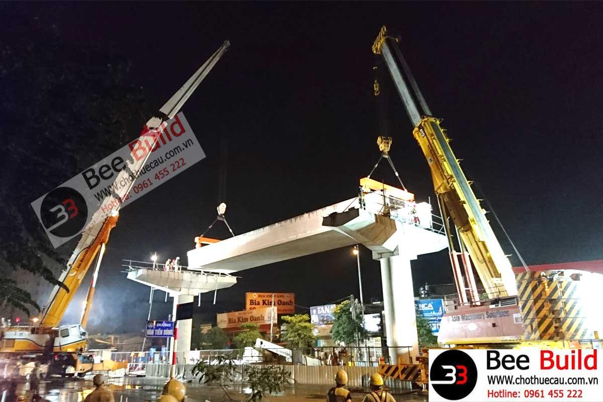 Cho thuê cẩu lốp 300 tấn tại Dự án Metro Hà Nội