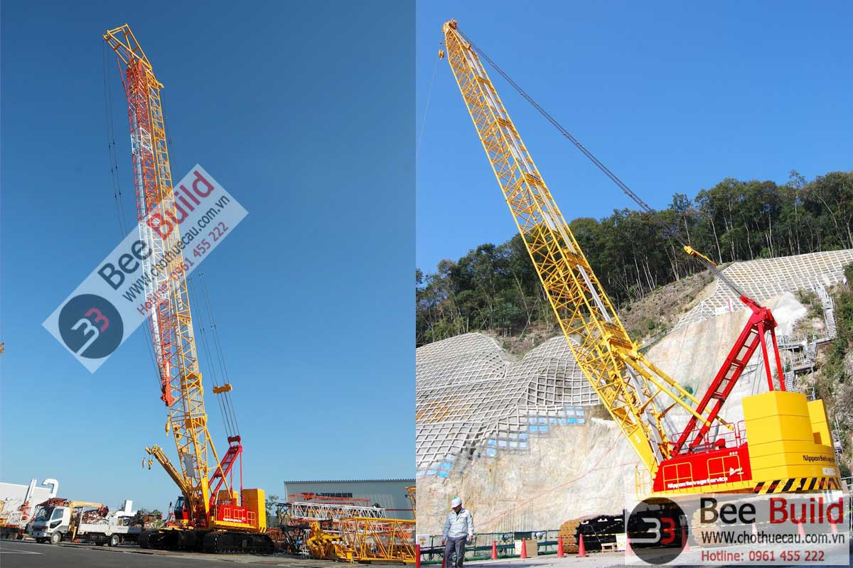 Cho thuê cẩu xích 200 tấn Kobelco 7200 tại công trình đập thủy điện