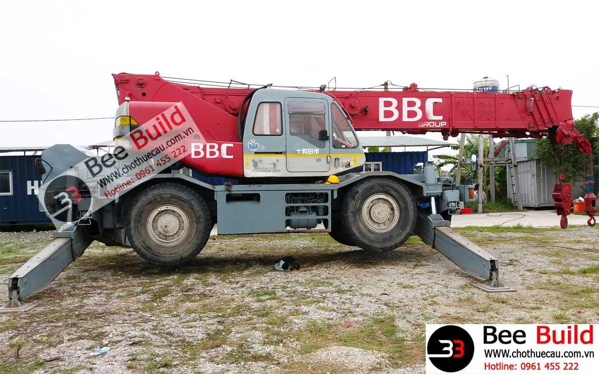 Cho thuê cẩu lốp 35 tấn tại Nhà máy lọc dầu Nghi Sơn