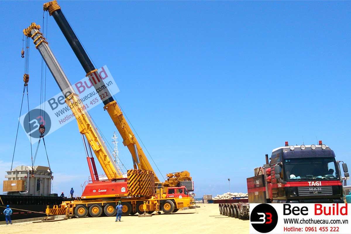 Cho Thuê Cẩu Lốp 300 Tấn Tại Cảng Sơn Dương - Formosa Hà Tĩnh