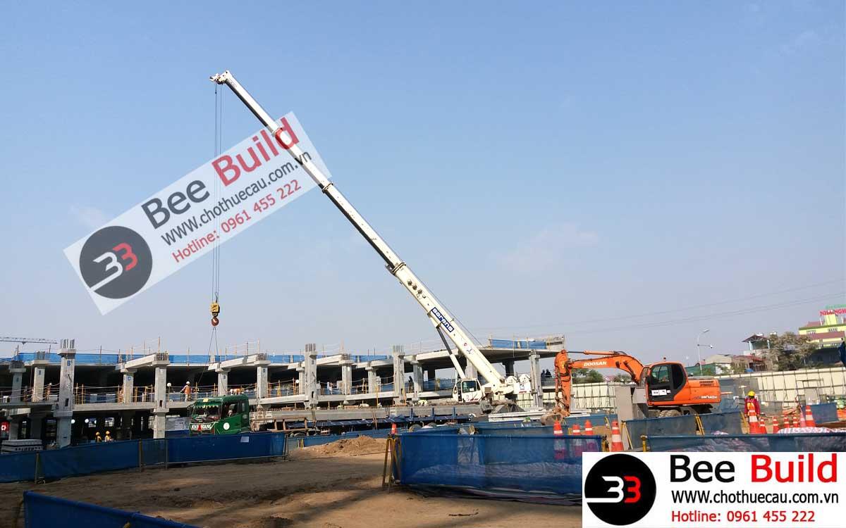 Cho thuê cẩu lốp 120 tấn tại Nhà máy V3 Samsung Bắc Ninh
